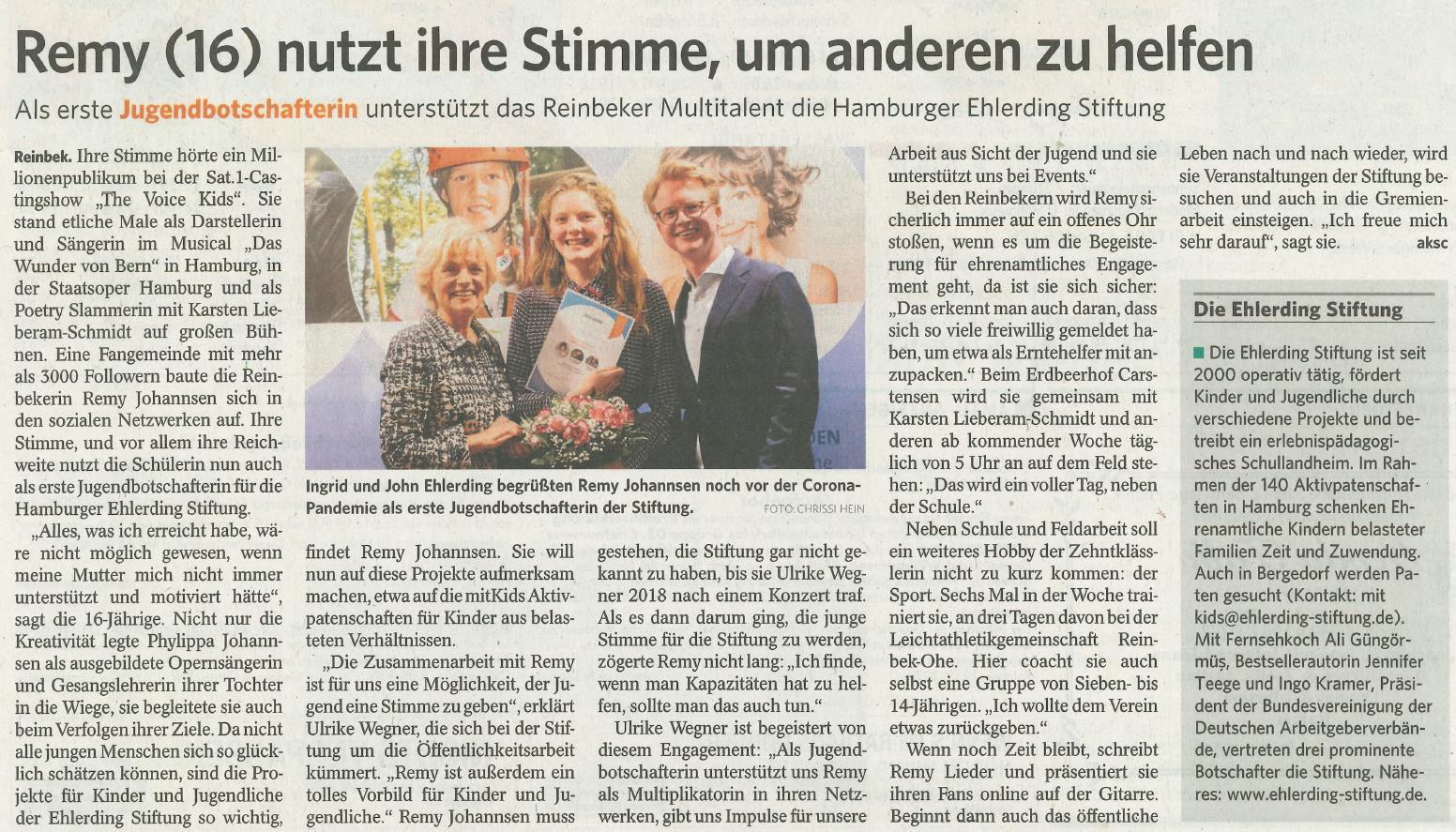 Artikle Bergedorfer Zeitung